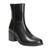 Kožená kotníčková obuv na podpatku ten-points, černá, 716-6045 - 13