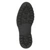 Kožená kotníčková obuv s kožíškem bata, černá, 594-6656 - 17