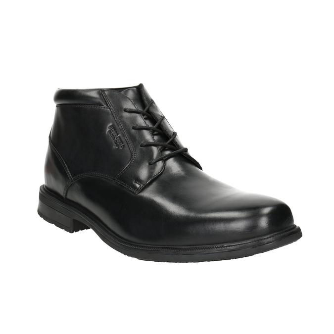 Kožená kotníčková obuv rockport, černá, 894-6036 - 13