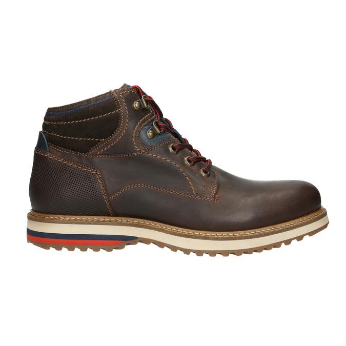 Pánská zimní kožená obuv bata, hnědá, 896-4676 - 15