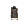 Kožené kotníčkové tenisky bata, hnědá, 846-4644 - 16
