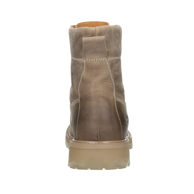 Hnědá kožená kotníčková obuv weinbrenner, 896-8702 - 16