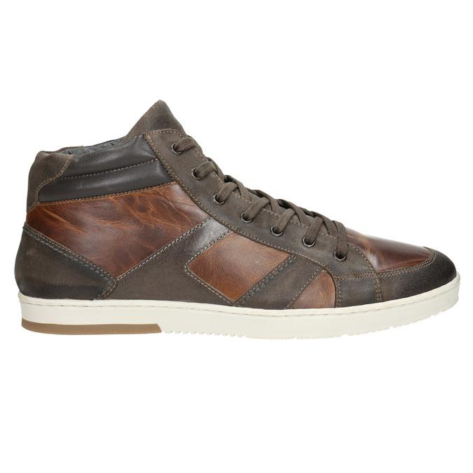 Kožené kotníčkové tenisky bata, hnědá, 846-4644 - 26