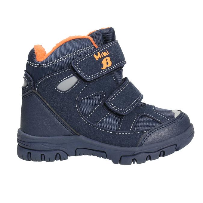 Dětské zimní boty na suché zipy mini-b, modrá, 291-9626 - 15