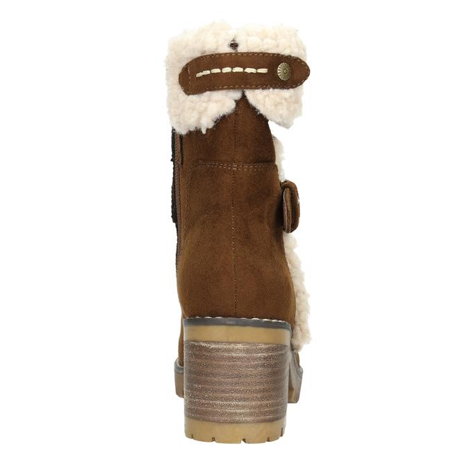 Dámská zimní obuv s přezkou bata, hnědá, 699-4637 - 17
