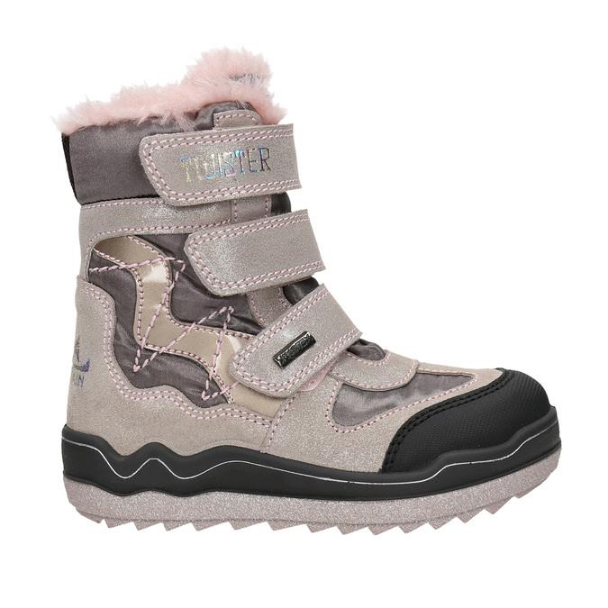 Růžová dívčí zimní obuv mini-b, červená, 299-5613 - 15
