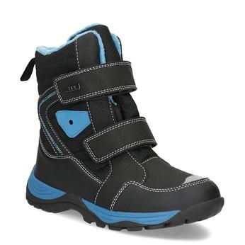 Dětská zimní obuv na suché zipy mini-b, černá, 491-6653 - 13