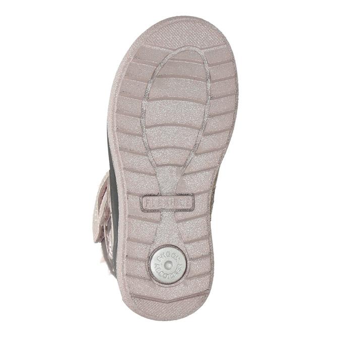Růžová dívčí zimní obuv mini-b, červená, 299-5613 - 19