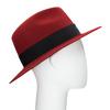 Červený klobouk z králičí srsti tonak, červená, 909-5649 - 13