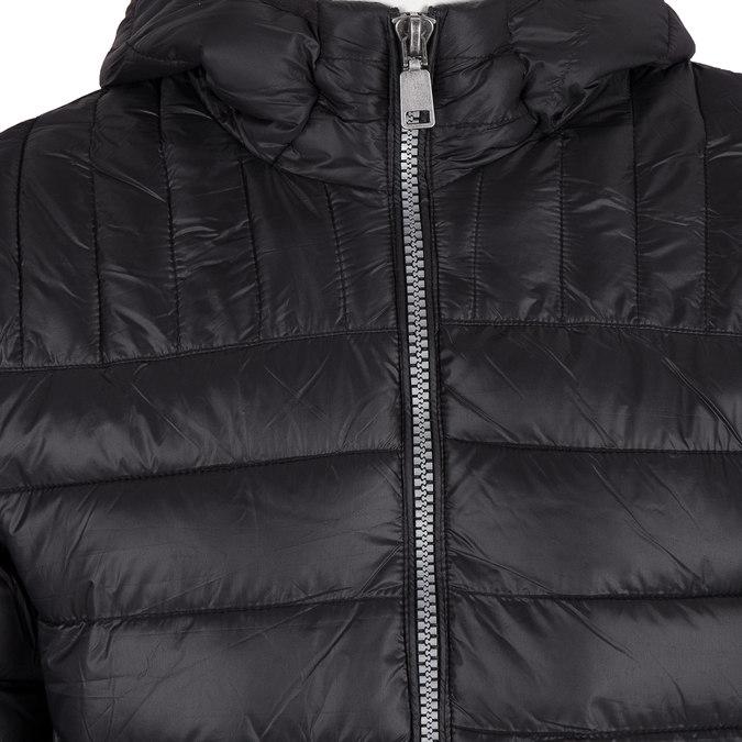 Pánská prošívaná bunda s kapucí bata, černá, 979-6143 - 16