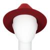 Červený klobouk z králičí srsti, červená, 909-5649 - 16