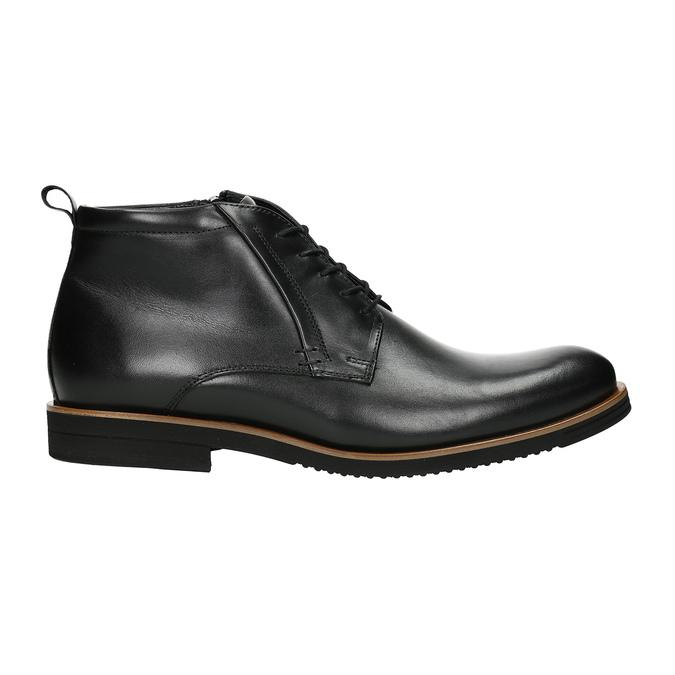 Pánská kožená kotníčková obuv conhpol, černá, 894-6696 - 26