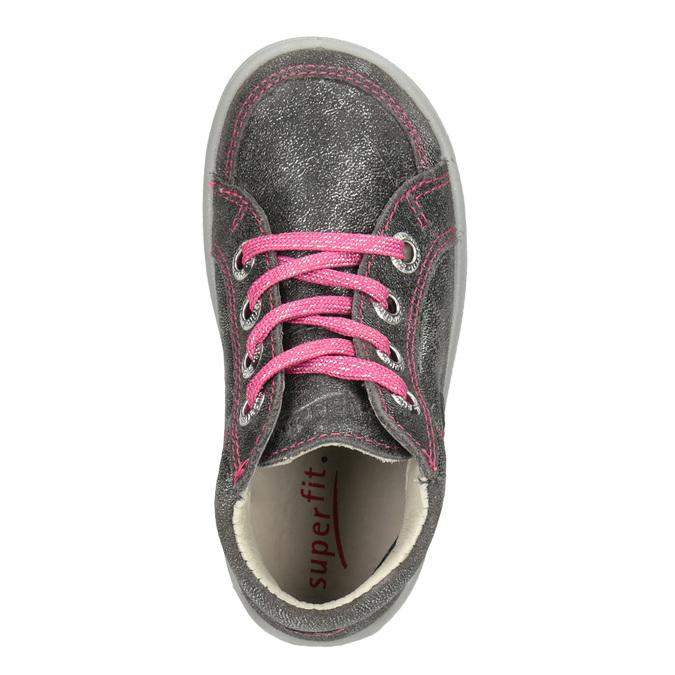 ed75f749b03 Superfit Stříbrná dětská obuv s prošitím - Slevy