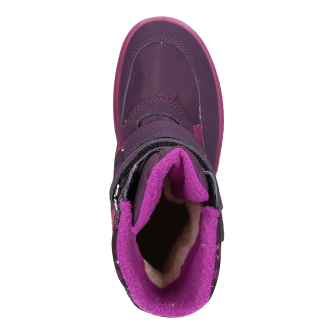 Fialová dívčí zimní obuv superfit, červená, 399-5030 - 15