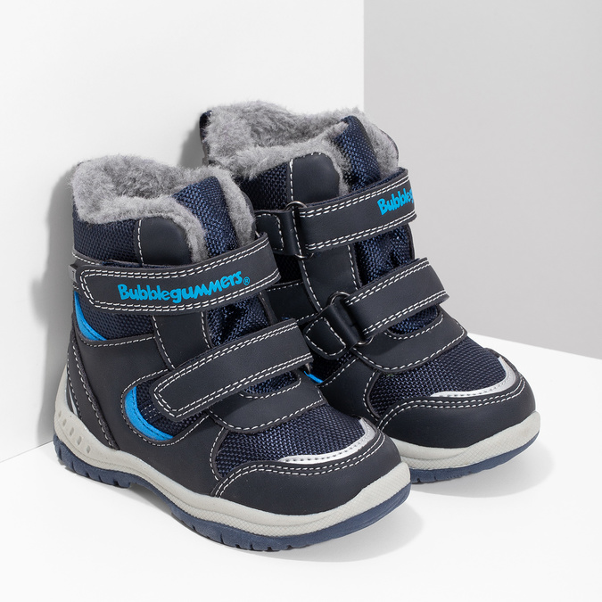 Dětské zimní boty s kožíškem bubblegummers, modrá, 199-9602 - 26