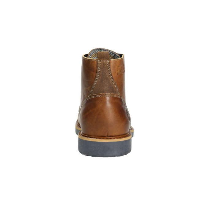 Hnědá kožená zimní obuv bata, hnědá, 896-4667 - 17