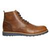Hnědá kožená zimní obuv bata, hnědá, 896-4667 - 15