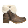 Kotníčková obuv s kožíškem bata, hnědá, 691-2633 - 15