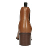 Kožená kotníčková obuv  v Chelsea stylu ten-points, hnědá, 716-3046 - 16