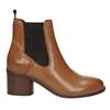 Kožená kotníčková obuv  v Chelsea stylu ten-points, hnědá, 716-3046 - 26