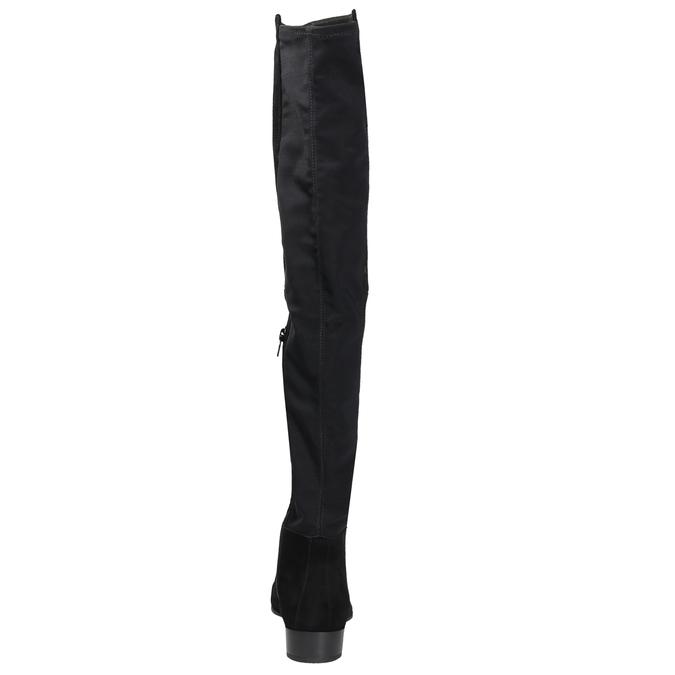 Dámské kozačky nad kolena vagabond, černá, 593-6016 - 17