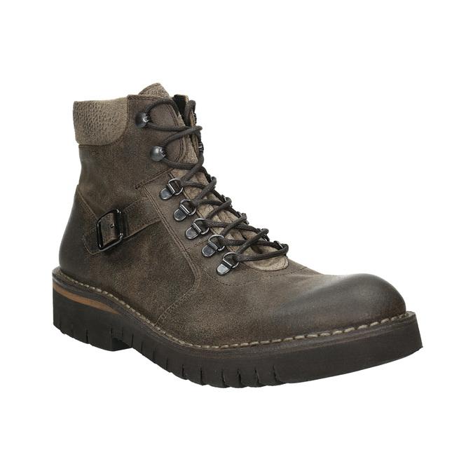 Kotníčková obuv s masivní podešví bata, hnědá, 896-4683 - 13