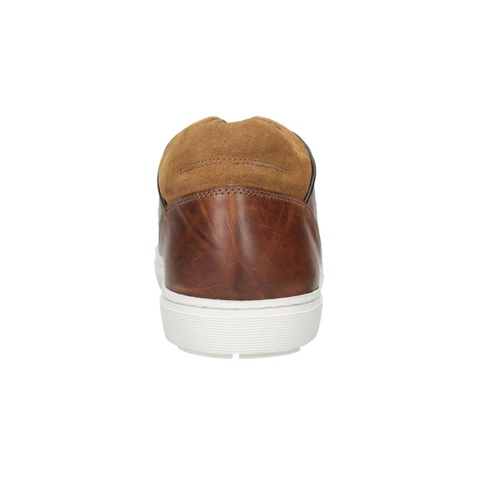 Kožené pánské tenisky bata, hnědá, 846-3643 - 16