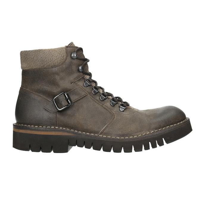 Kotníčková obuv s masivní podešví bata, hnědá, 896-4683 - 15