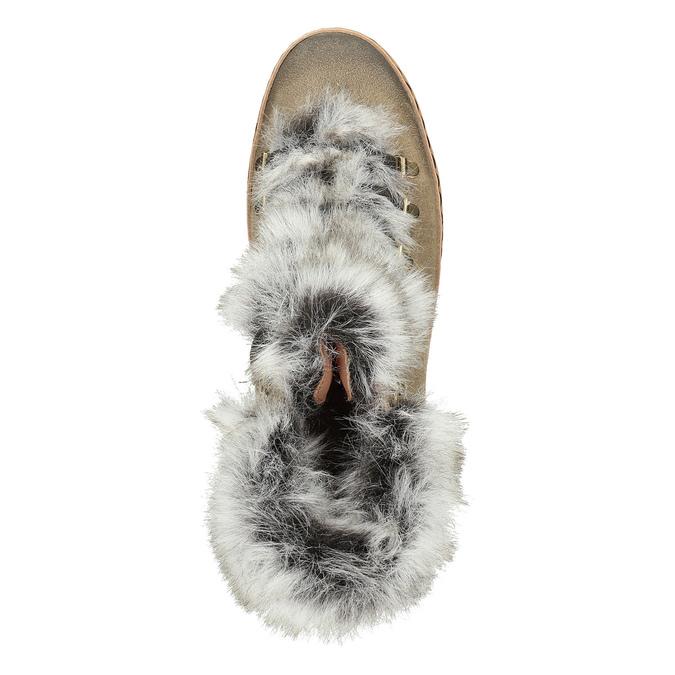 Dámská zimní obuv s kožíškem bata, hnědá, 596-3675 - 15