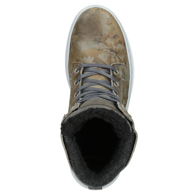 Dámská zimní obuv se zateplením bata, šedá, 596-2684 - 15