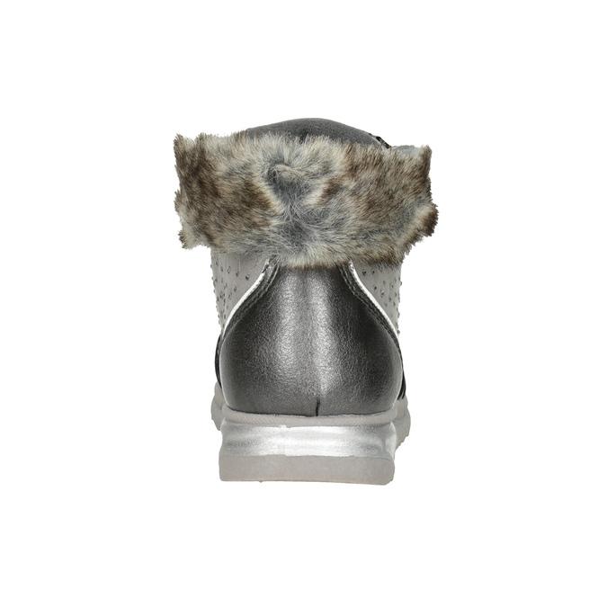 Stříbrná dívčí zimní obuv mini-b, šedá, 329-2287 - 16