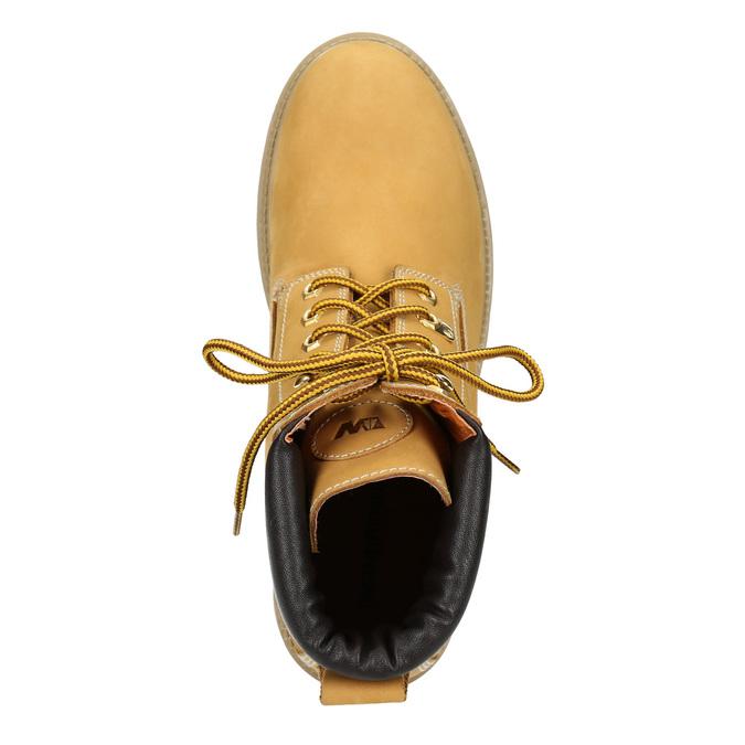 Kožená kotníčková obuv weinbrenner, žlutá, 896-8669 - 15