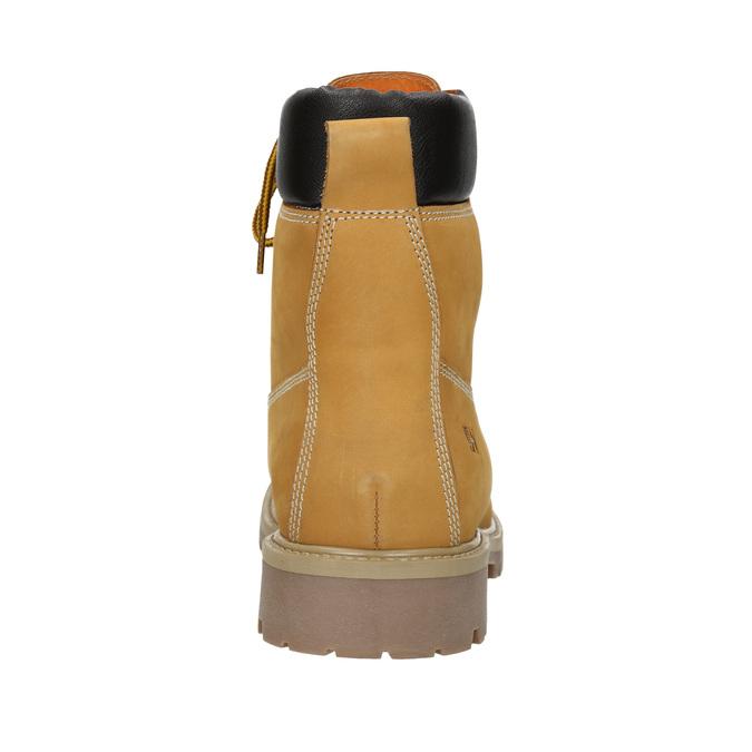 Kožená kotníčková obuv weinbrenner, žlutá, 896-8669 - 16