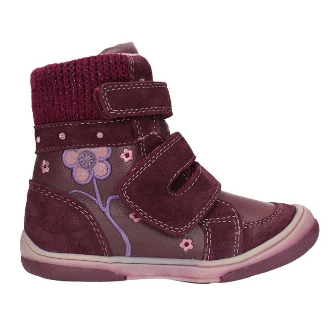 Kožená dětská zimní obuv bubblegummers, červená, 124-5602 - 26