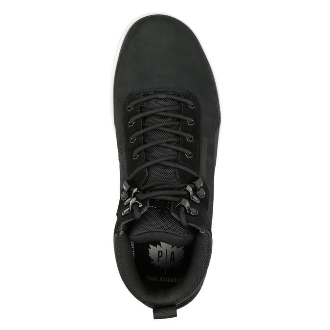 Kožená kotníčková pánská obuv k1x, černá, 806-6552 - 15