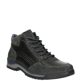 Kožené ležérní tenisky bata, černá, 896-6705 - 13