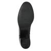 Kožené dámské kozačky na stabilním podpatku bata, černá, 694-6637 - 19