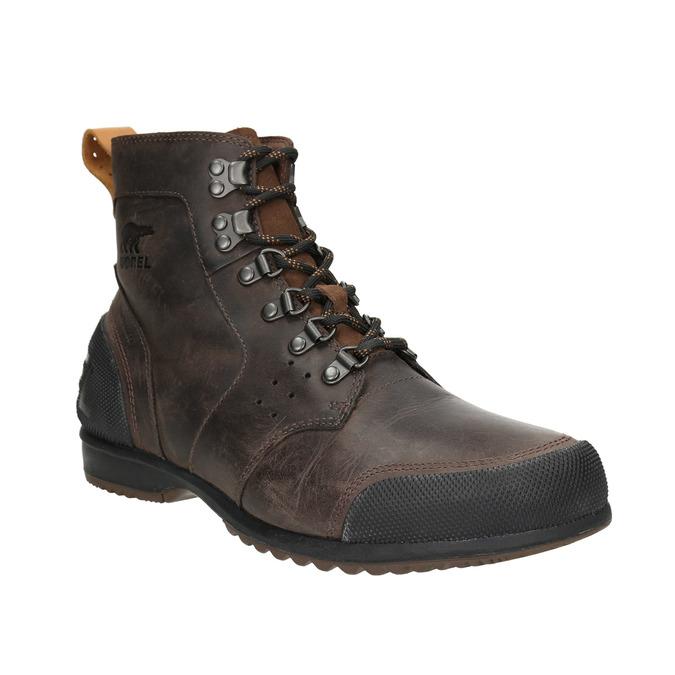 Pánská kožená zimní obuv sorel, hnědá, 826-4067 - 13
