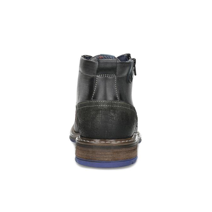 Pánská kožená kotníčková obuv se zipem bata, šedá, 896-2678 - 15