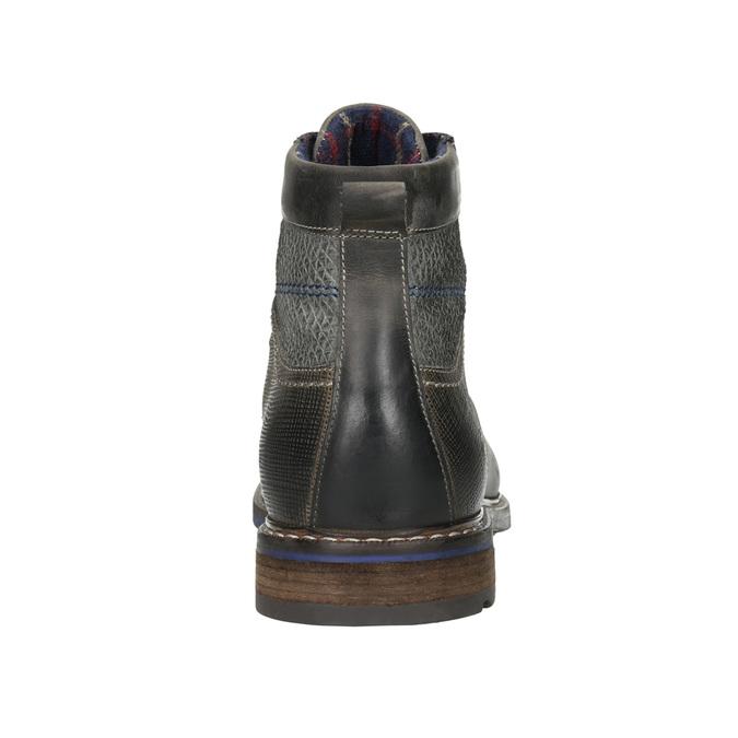 Kožená obuv s modrými detaily bata, šedá, 896-2679 - 17