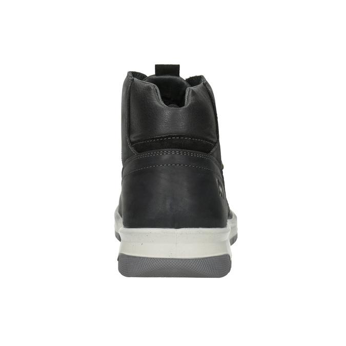 Pánská kožená zimní obuv weinbrenner, černá, 896-6701 - 16