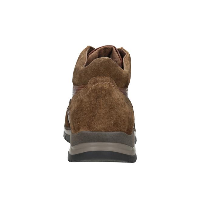 Kožená kotníčková obuv pánská bata, hnědá, 896-3705 - 16