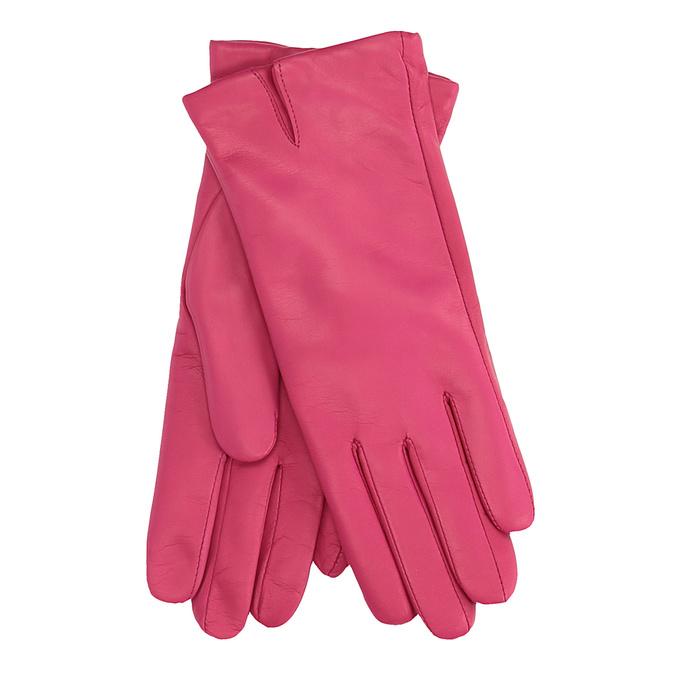 Růžové kožené rukavice junek, 924-9055 - 13