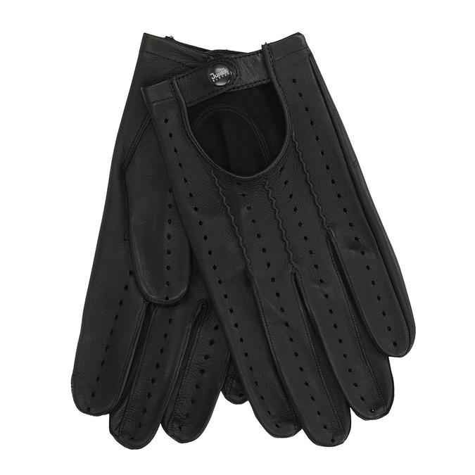 Pánské kožené rukavice junek, černá, 904-6001 - 13