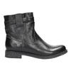 Dámská kožená kotníčková obuv bata, černá, 594-6611 - 15