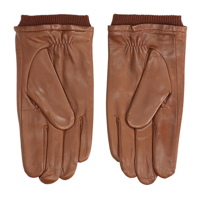 Kožené rukavice hnědé bata, hnědá, 904-3117 - 16