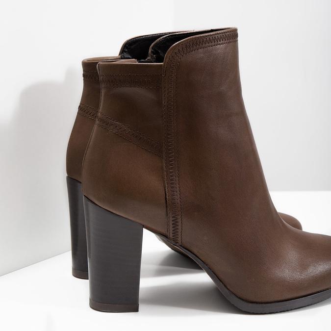 Kožená kotníčková obuv bata, hnědá, 794-4650 - 14