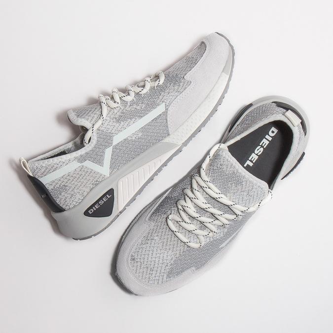 Sportovní dámské tenisky diesel, šedá, 509-1760 - 26