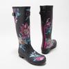 Dámské holínky s květy joules, černá, 502-6035 - 26