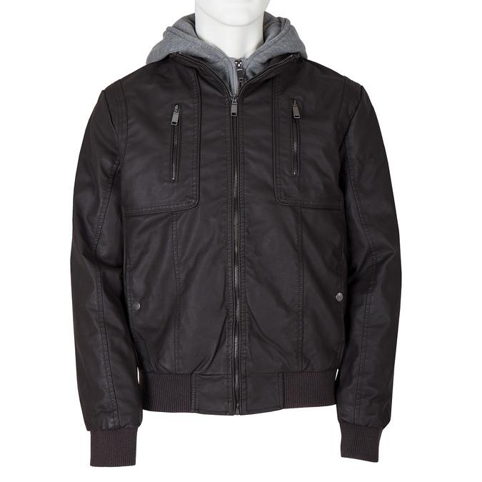 Pánská prošívaná bunda s kapucí bata, hnědá, 971-4126 - 13